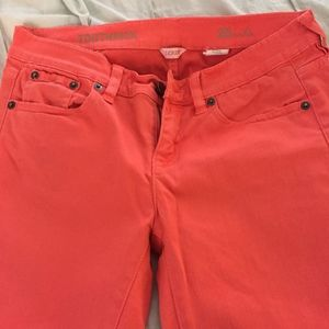 Coral Jeans - J. Crew